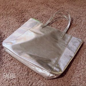 Clinique silver bag